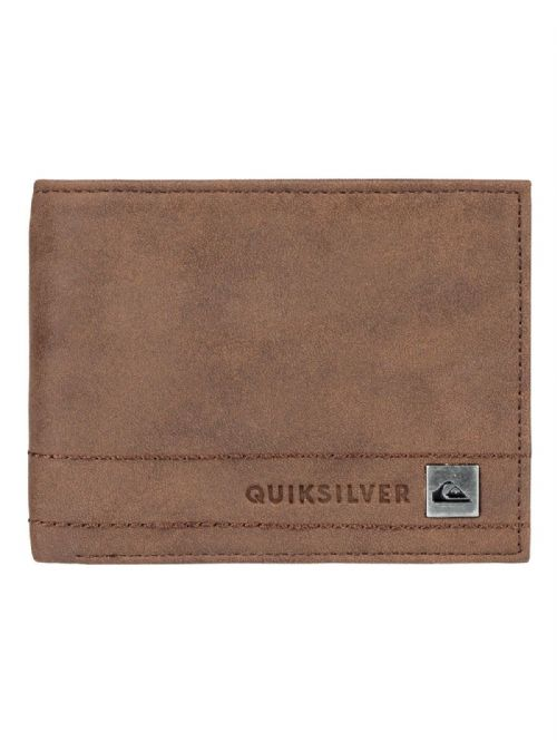 QUIKSILVER MENS WALLET.STITCHY III FAUX LEATHER BROWN MONEY CARD PURSE 8W 690 BR